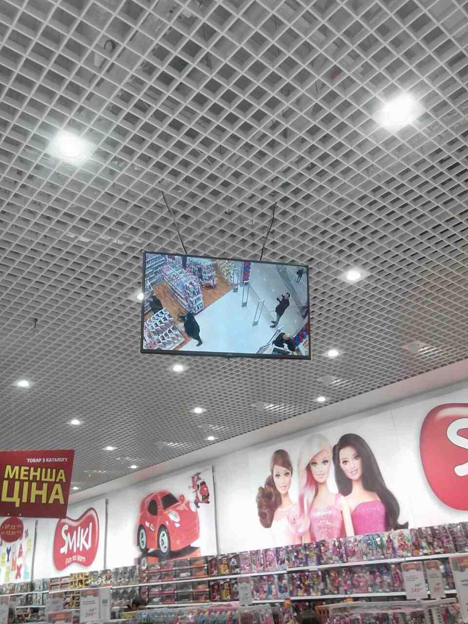 магазин детских игрушек смик установка телевизоров, телевизионных панелей фото